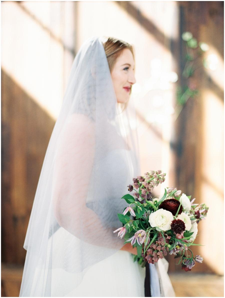 bride at a styled wedding shoot