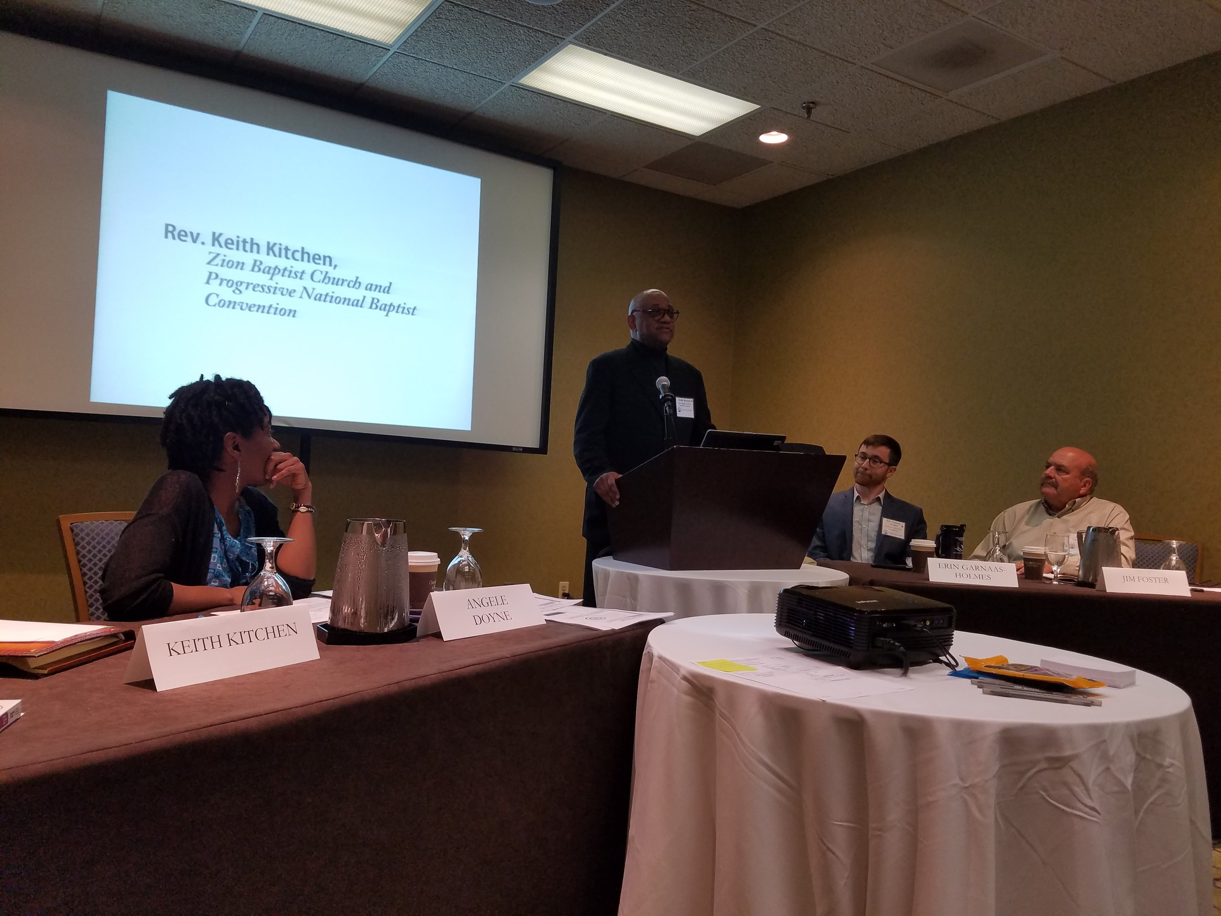 Rev. Keith Kitchen presents at the Choose Clean Water Conference in Charlottesville, VA on June 23.