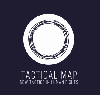 tactical map - new tactics in human rights logo and link to the tool
