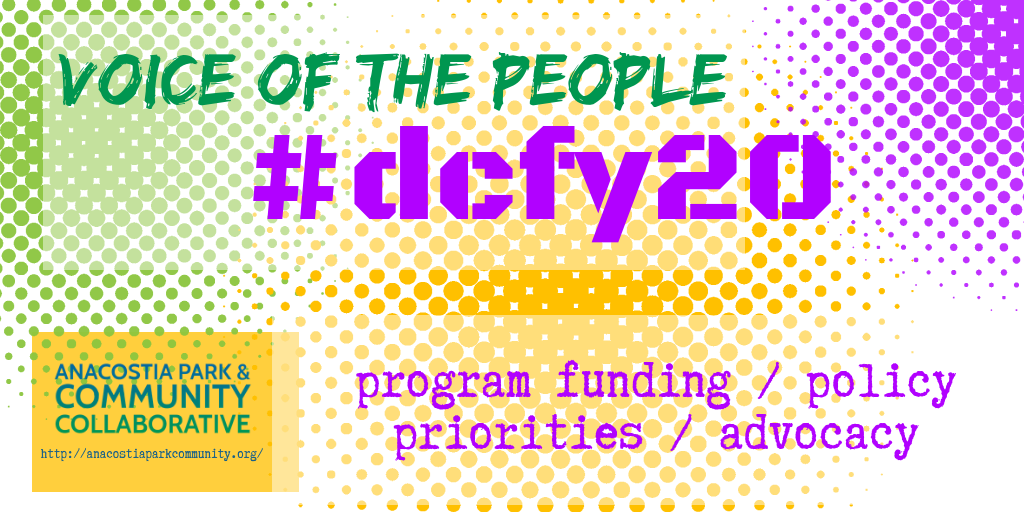 voice of the people #dcfy20. program funding/policy priorities/advocacy.