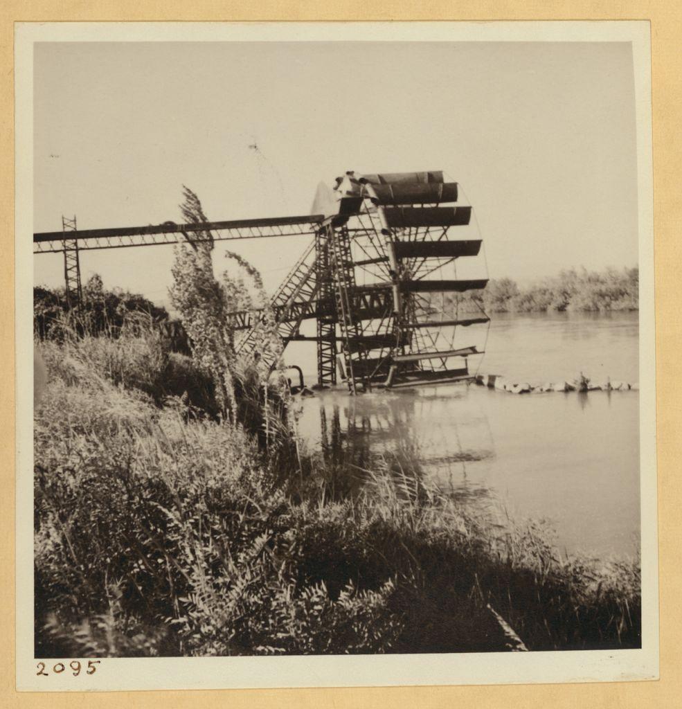 Fig 2: A new steel irrigation wheel at an Assyrian settlement on the Khabur river