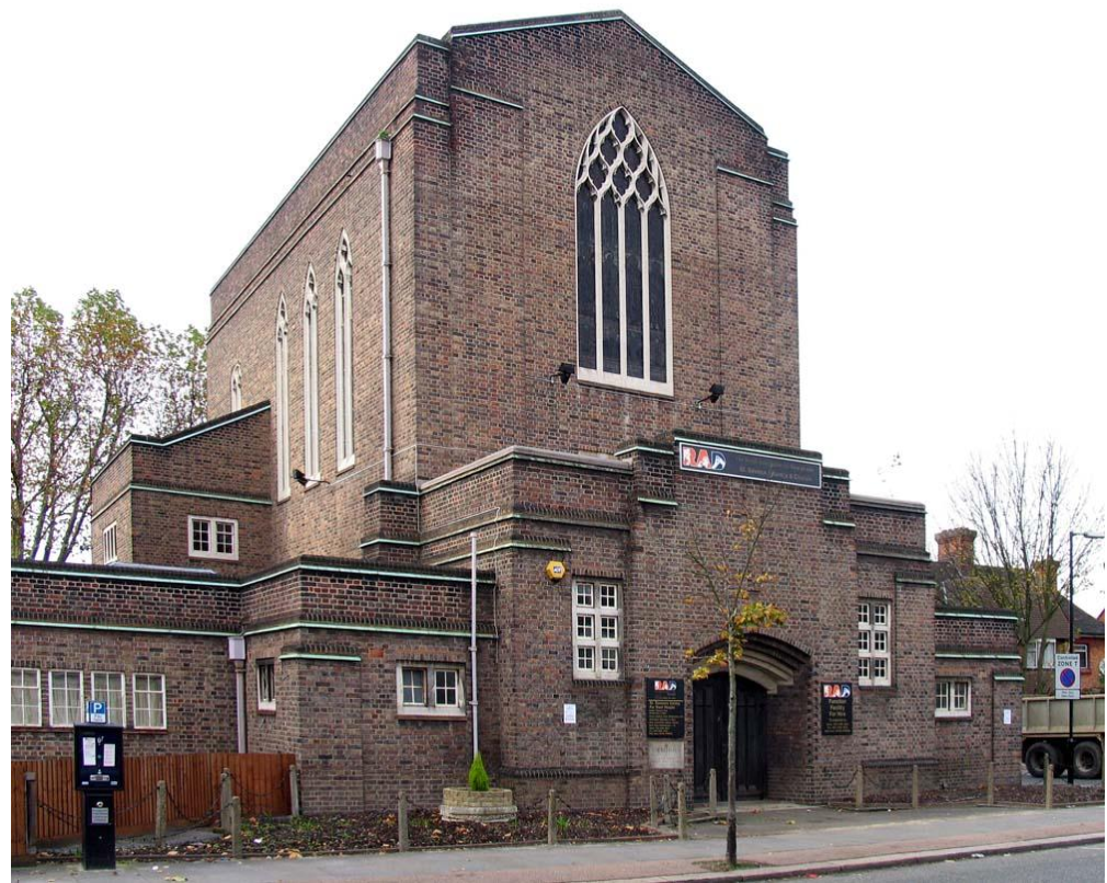 St Thomas Cathedral, formerly St Saviours Centre for the Deaf, Acton, West London.