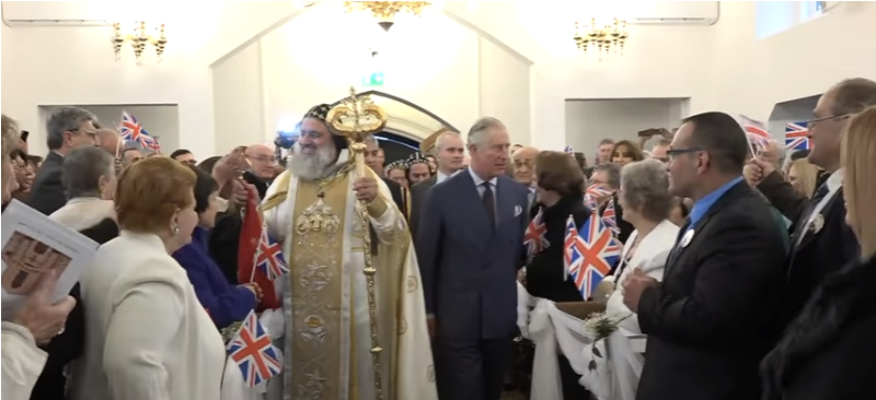 Prince Charles and the Patriarch of Antioch His Holiness Mor Ignatius Aphrem II both attended the consecration of the St Thomas Cathedral Syrian Orthodox Church in Acton, London. 24th November 2016.