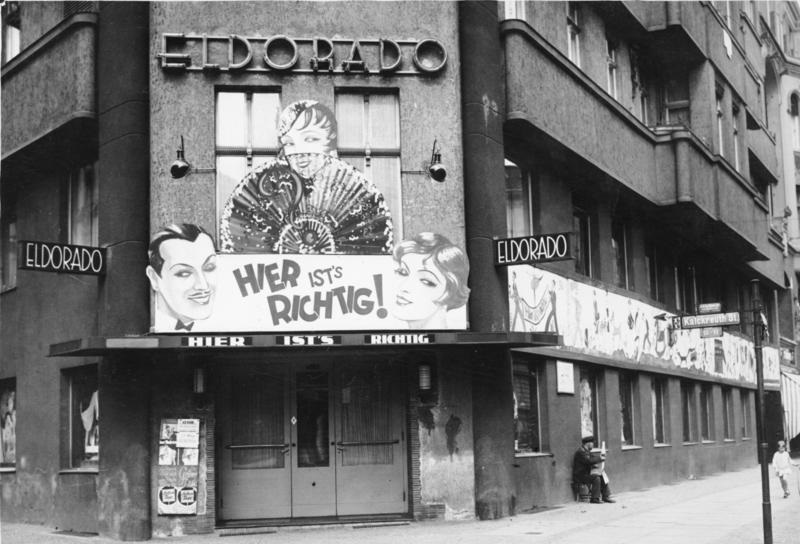 """""""The Eldorado club in Berlin was one of the many popular clubs for 'homosexuals and transvestites' visiting the city in the 1920s and early 30s. (c) Germany Federal Republic Archives"""""""