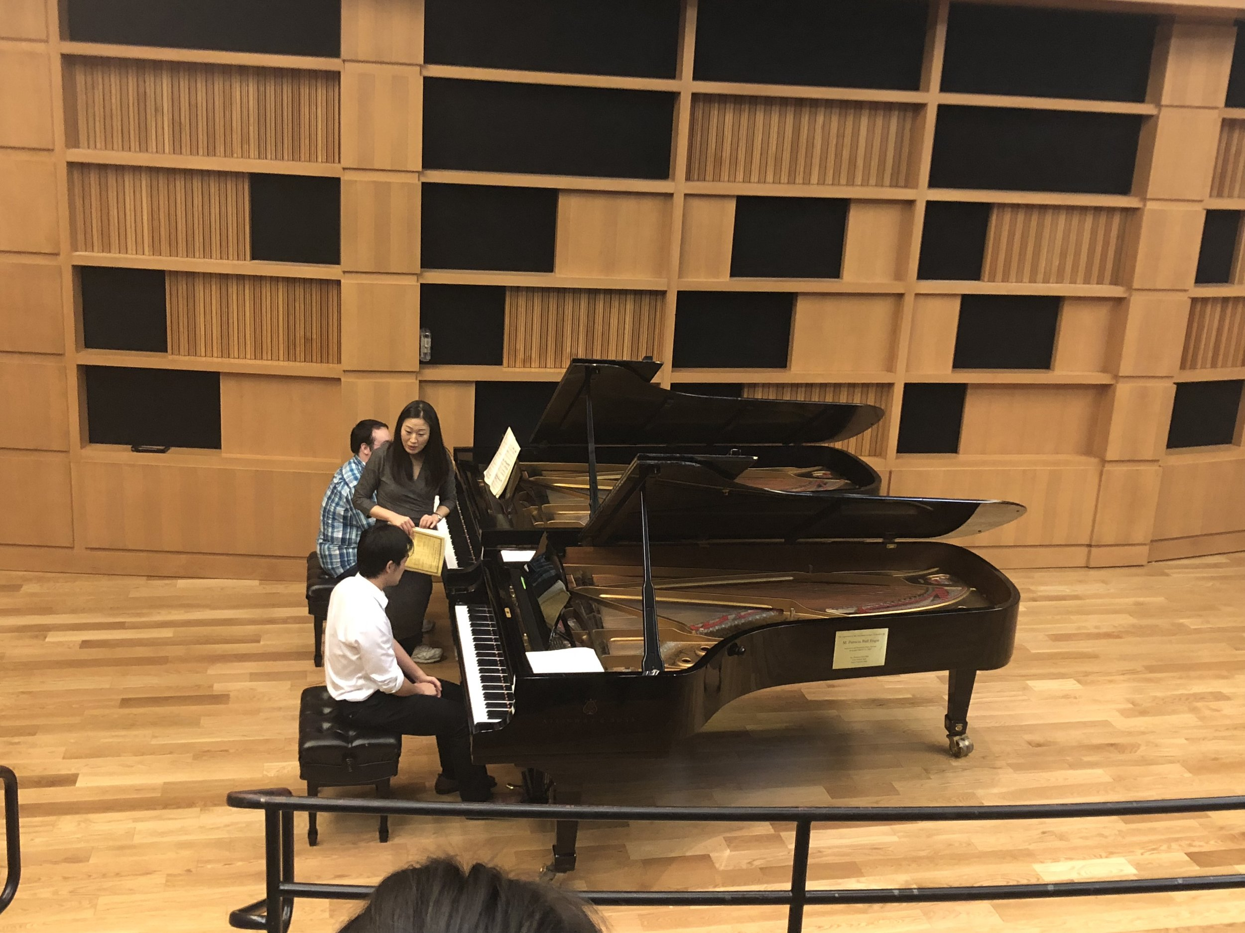 Teaching a masterclass at West Virginia University