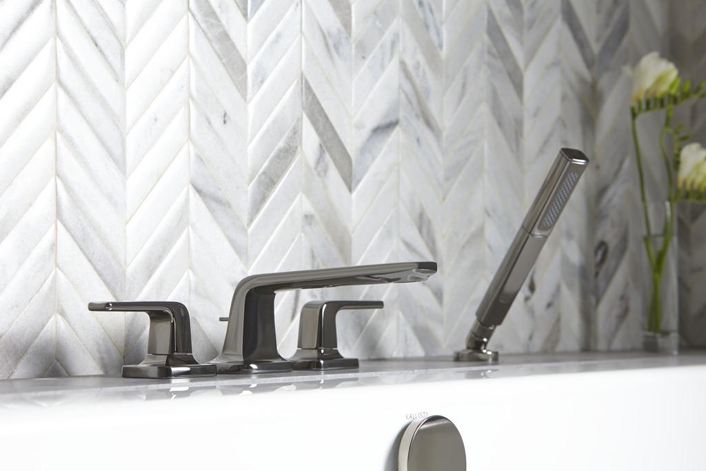 chevron patterned tile