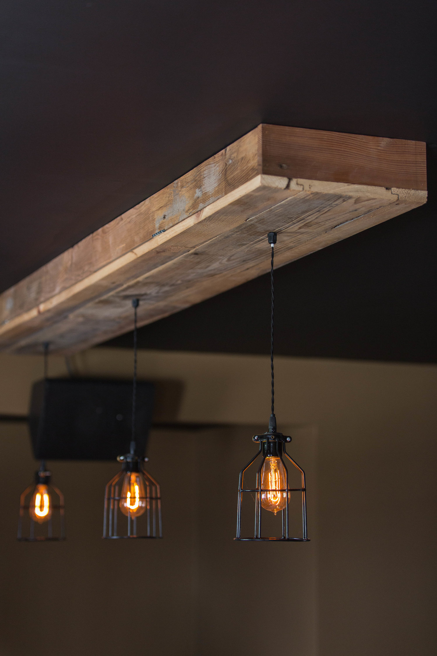 Reclaimed Barn Siding Flush Mount Fixture