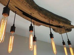 Live Edge Wood Slab Light Fixture