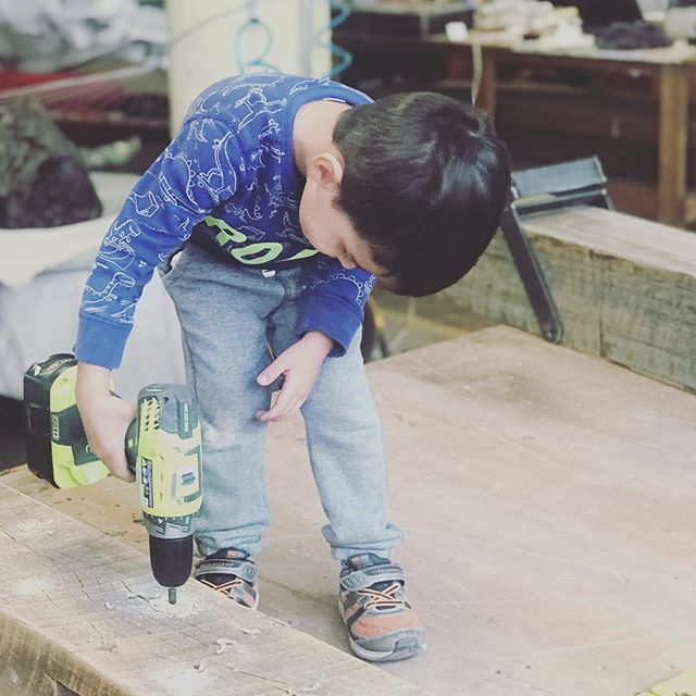 Got a little help in the shop today. . . . #7mwoodworking