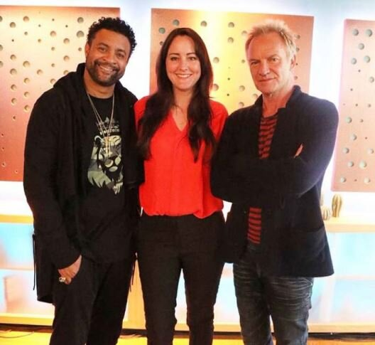 On the set of Sunday Brunch with Sting & Shaggy