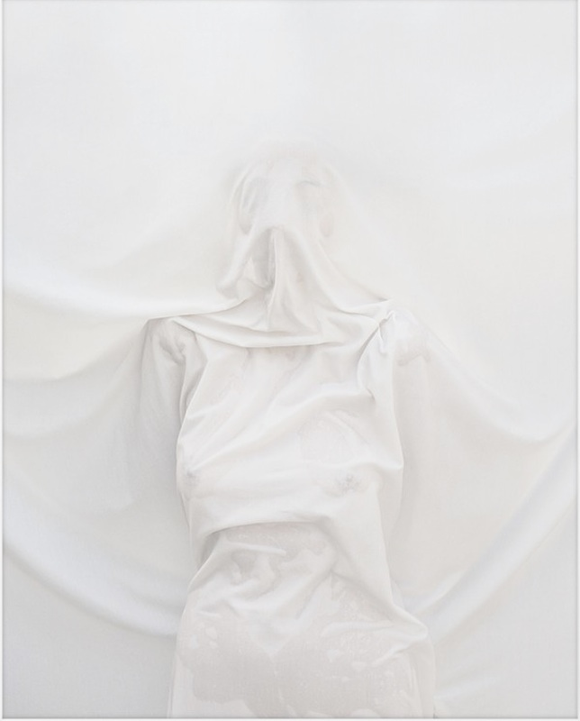 """Cloaked Figure N12   Archival Pigment Print  82"""" x 64"""""""