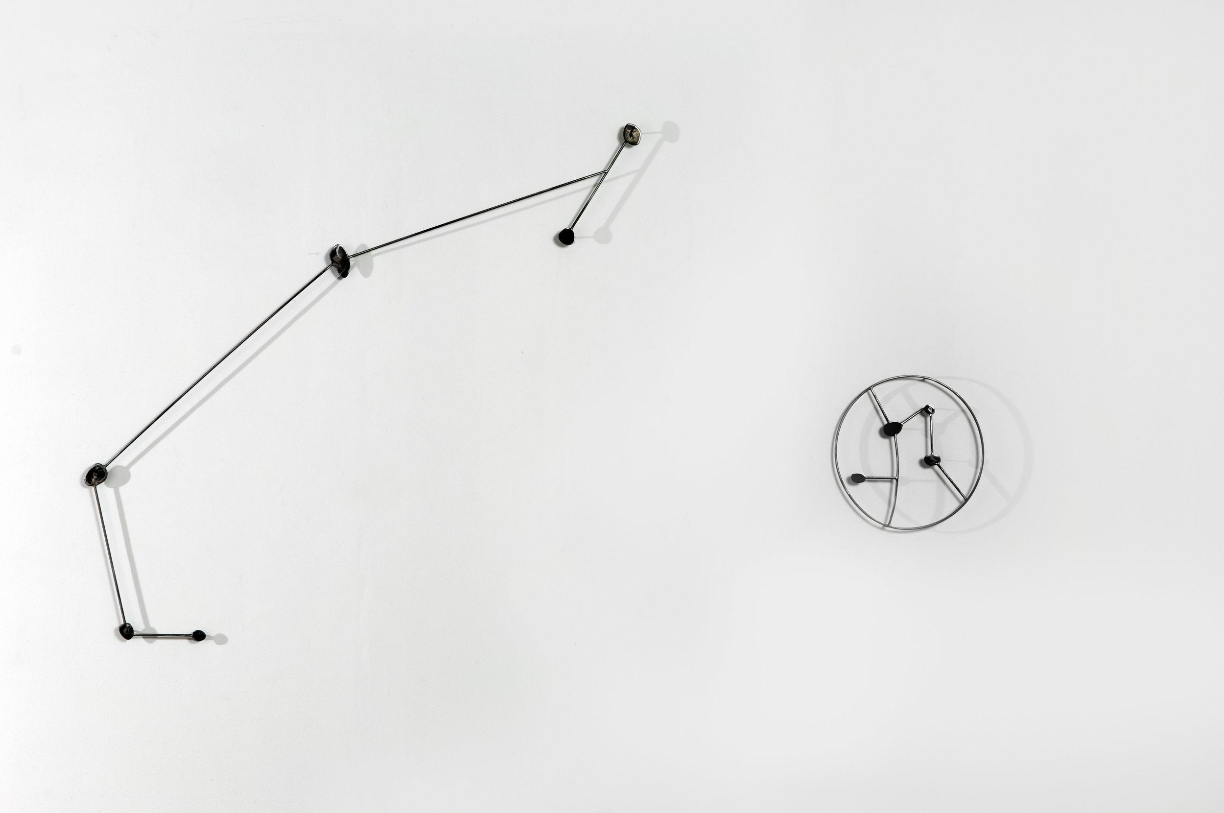 """Constellation #1   2010  Steel  55"""" x 95.5"""" x 2"""""""