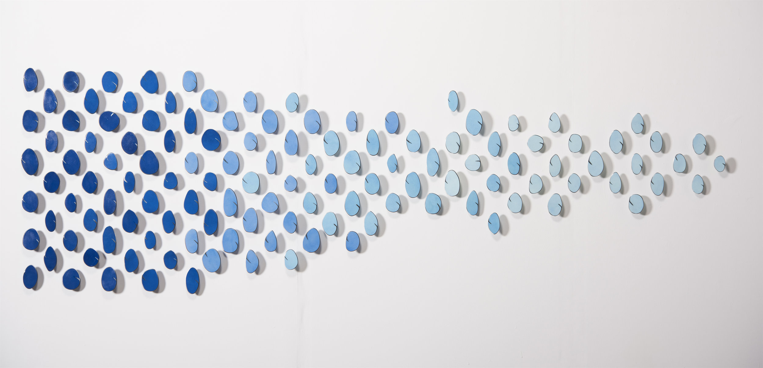 "Blue   2017  Painted Steel    39"" x 122"" x 2"""