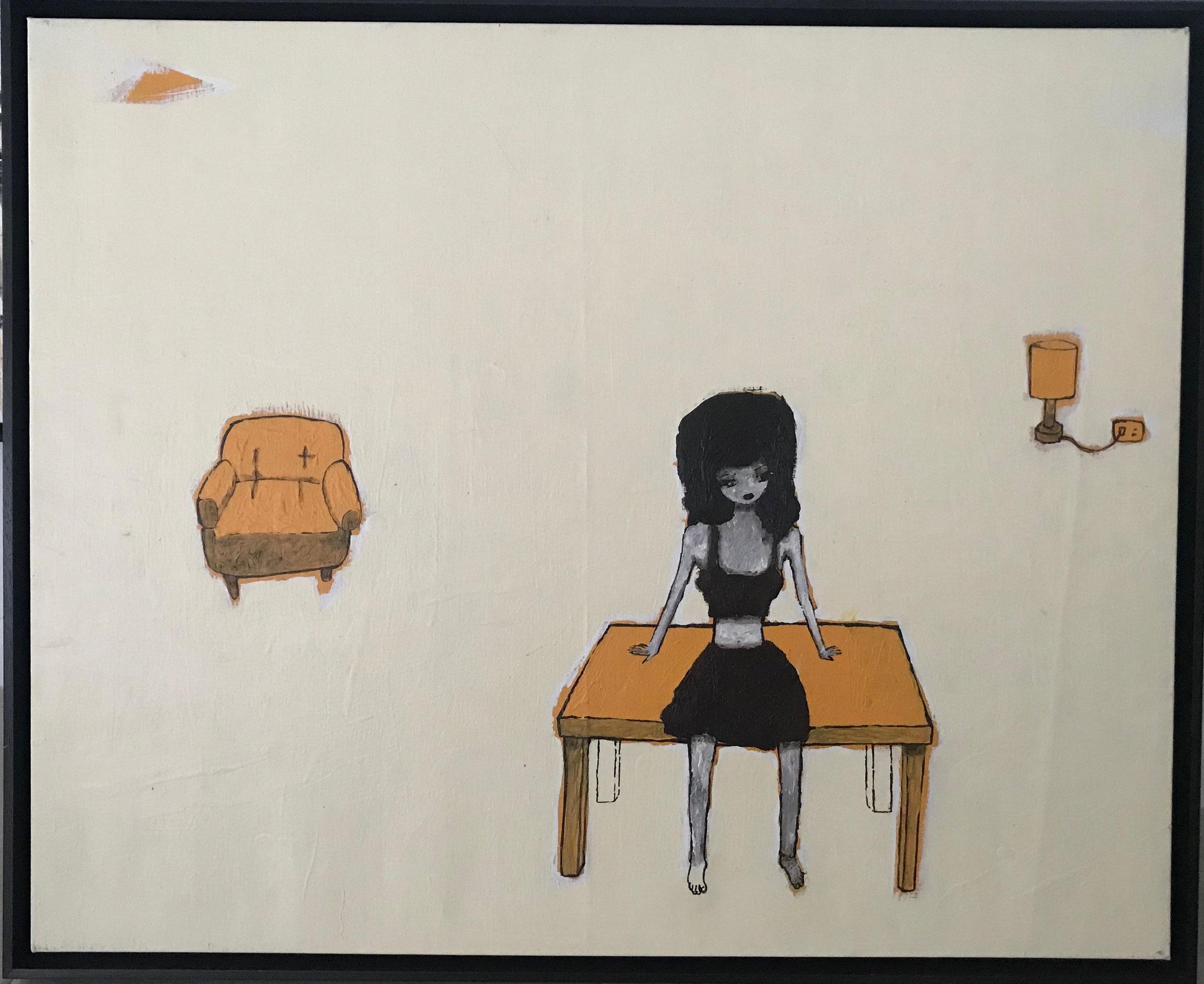 """DIPTYCH I   Acrylic on Canvas  36"""" x 30""""  2007"""