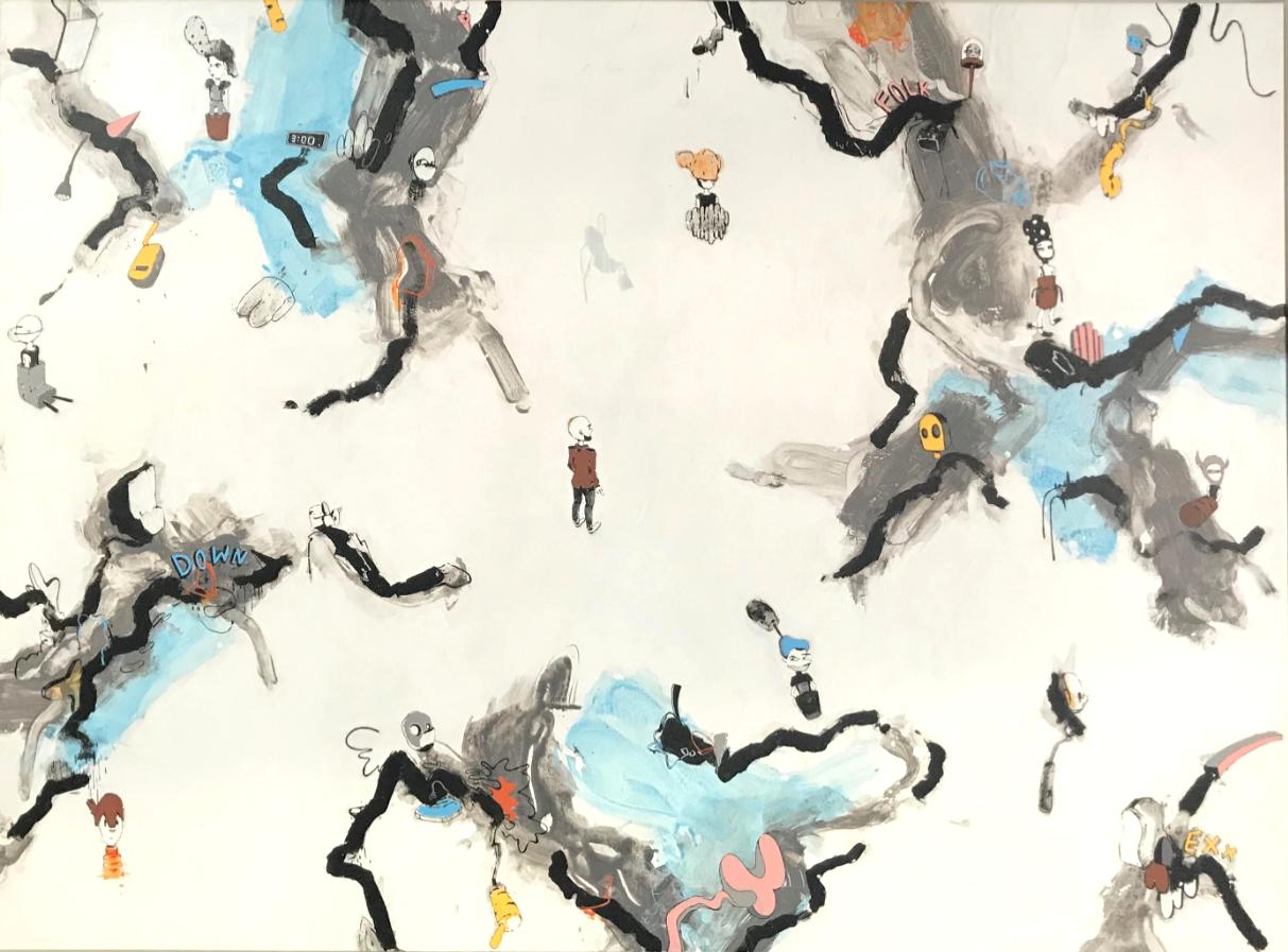 "UNTITLED   Acrylic on Canvas  60"" x 45""  2017"