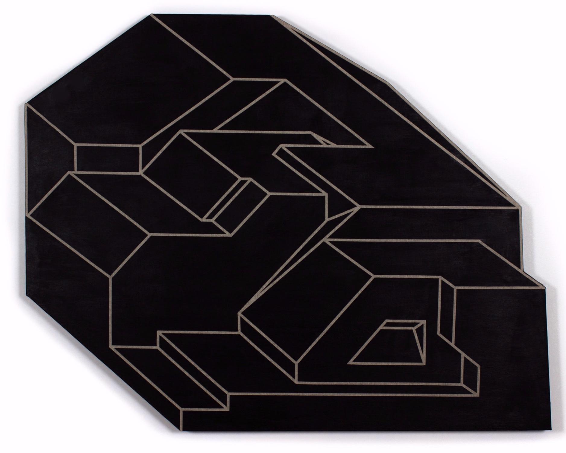"""""""Antimatter""""   acrylic on linnen  38"""" x 47""""  2018"""