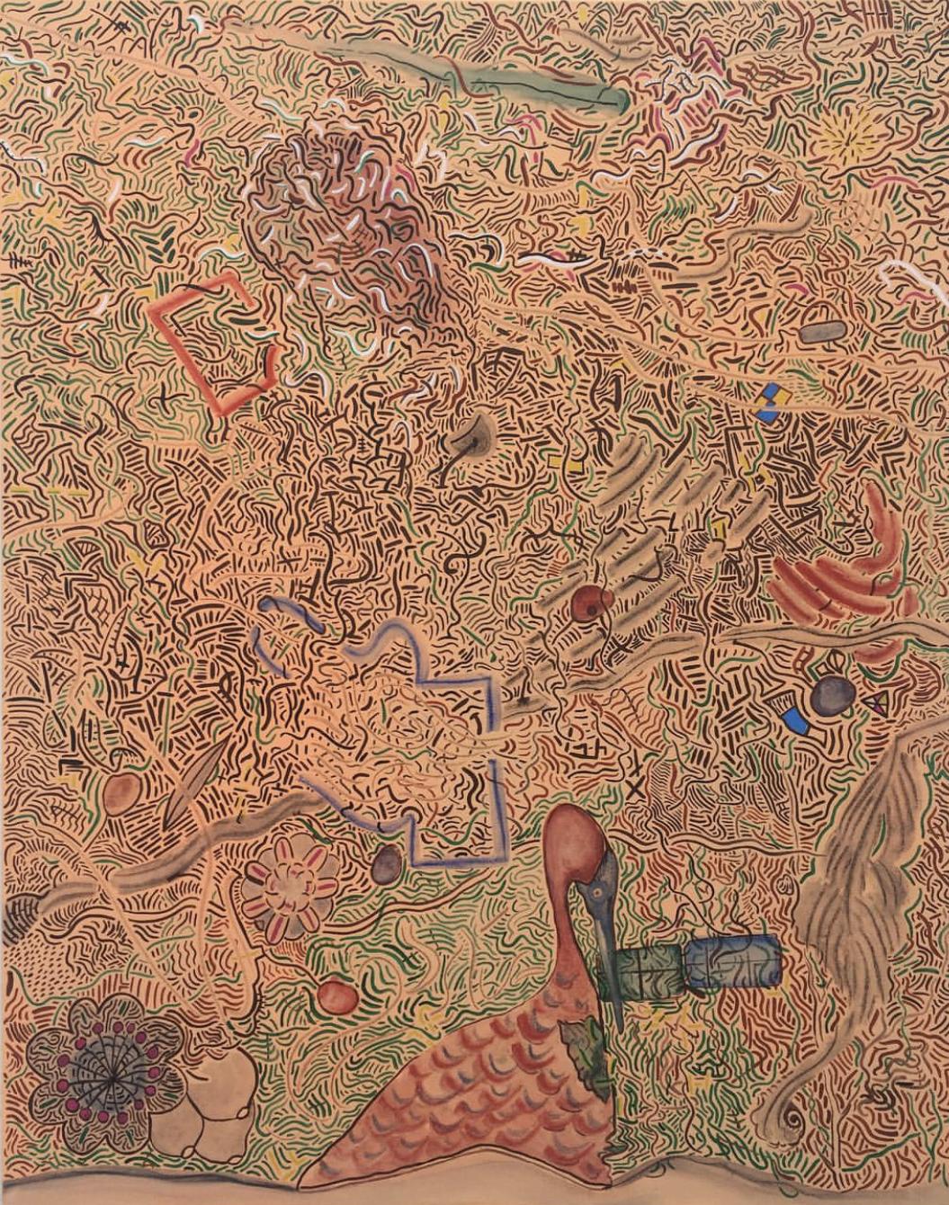 "Landscape   Mixed media on canvas  47.2""x35.4""  2019"