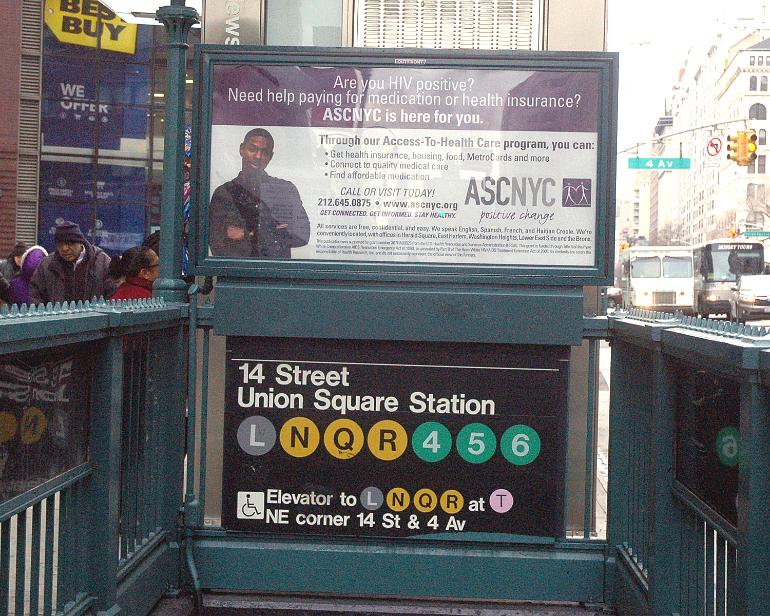 Urban Panel - Subway Entrance at 14th Street and Fourth Avenue
