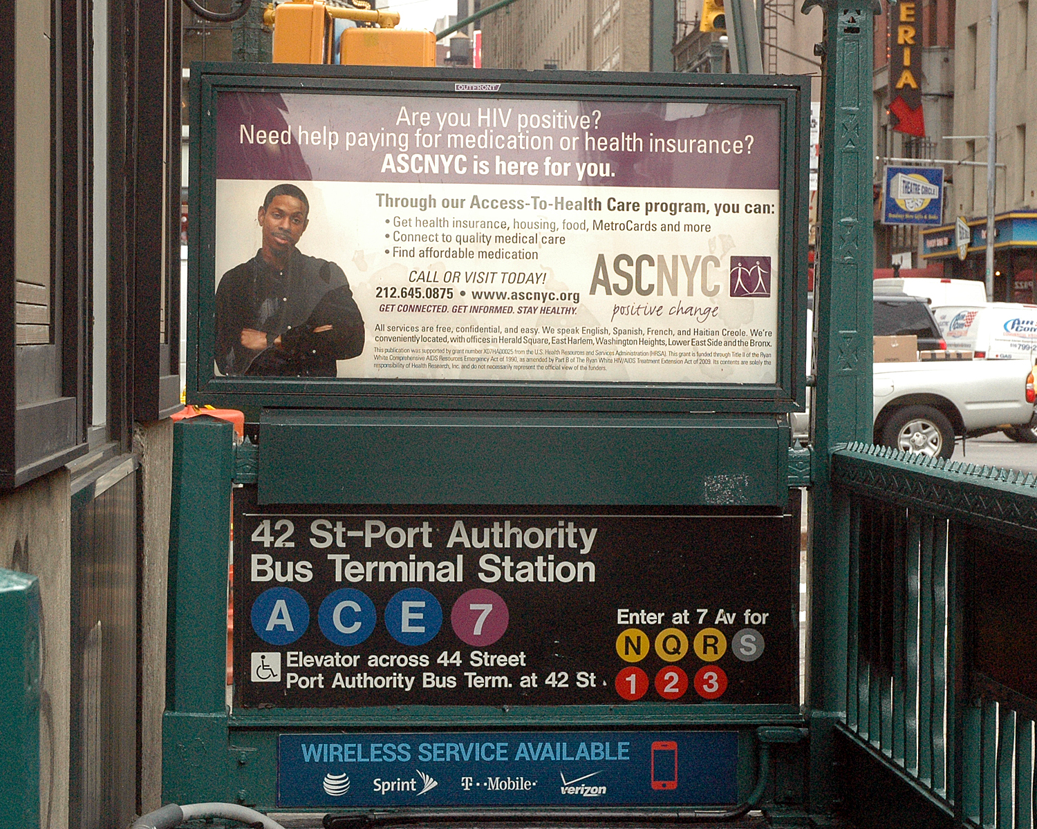 Urban Panel - Subway Entrance at 44th Street and Eighth Avenue