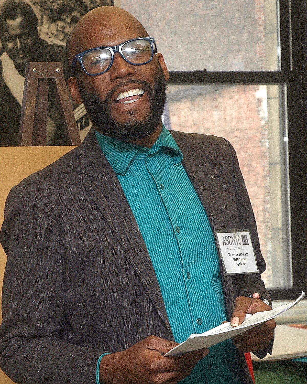 Xavier H. during his final presentation