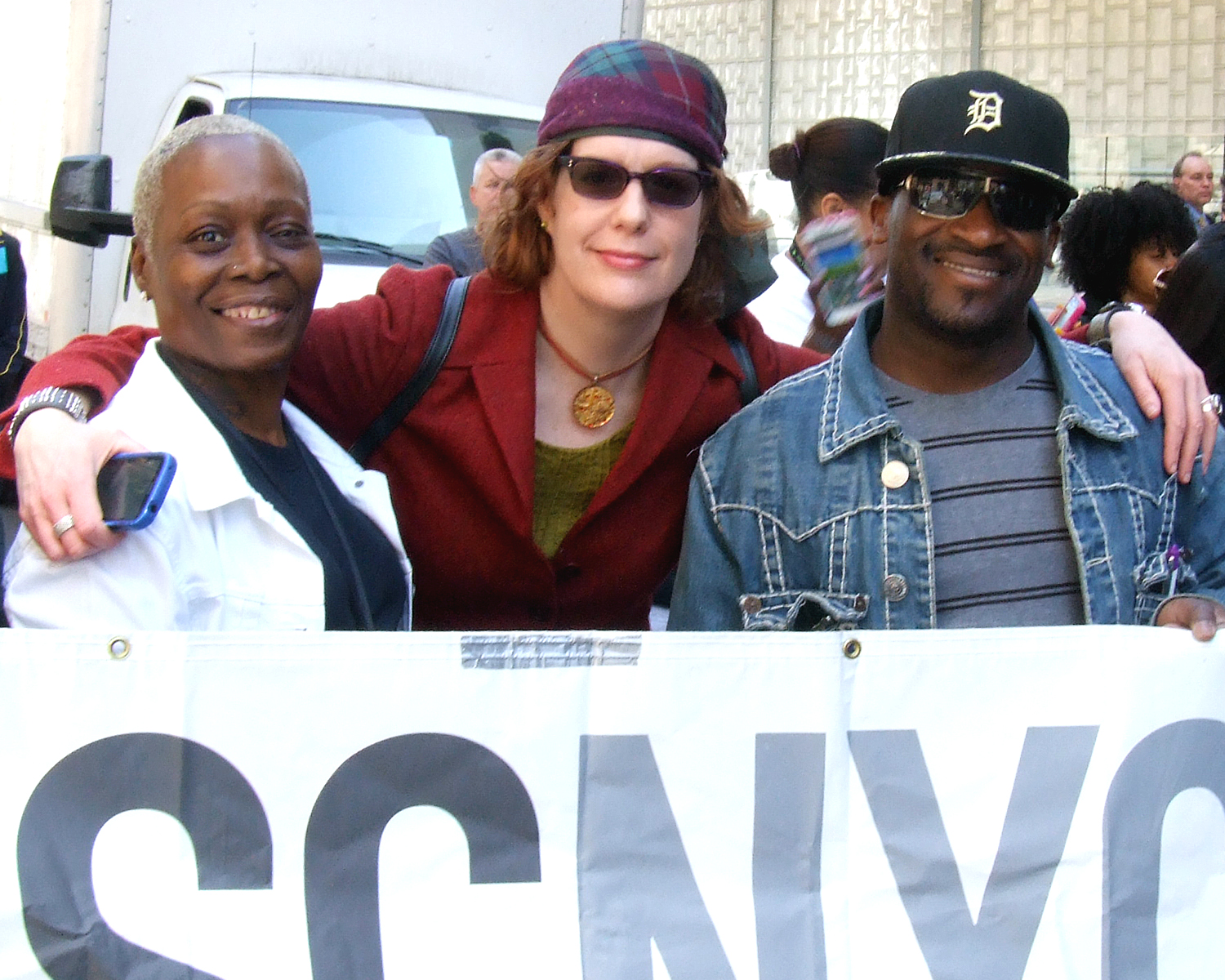 ASCNYC Staff Members Marcy Thompson and Derrick Flowers with an ASCNYC Peer