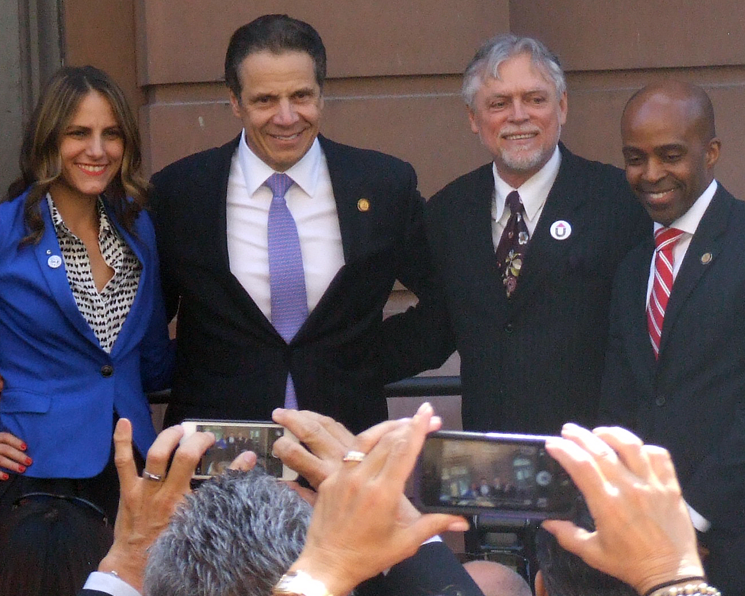 Governor Andrew Cuomo with other distinguished guests