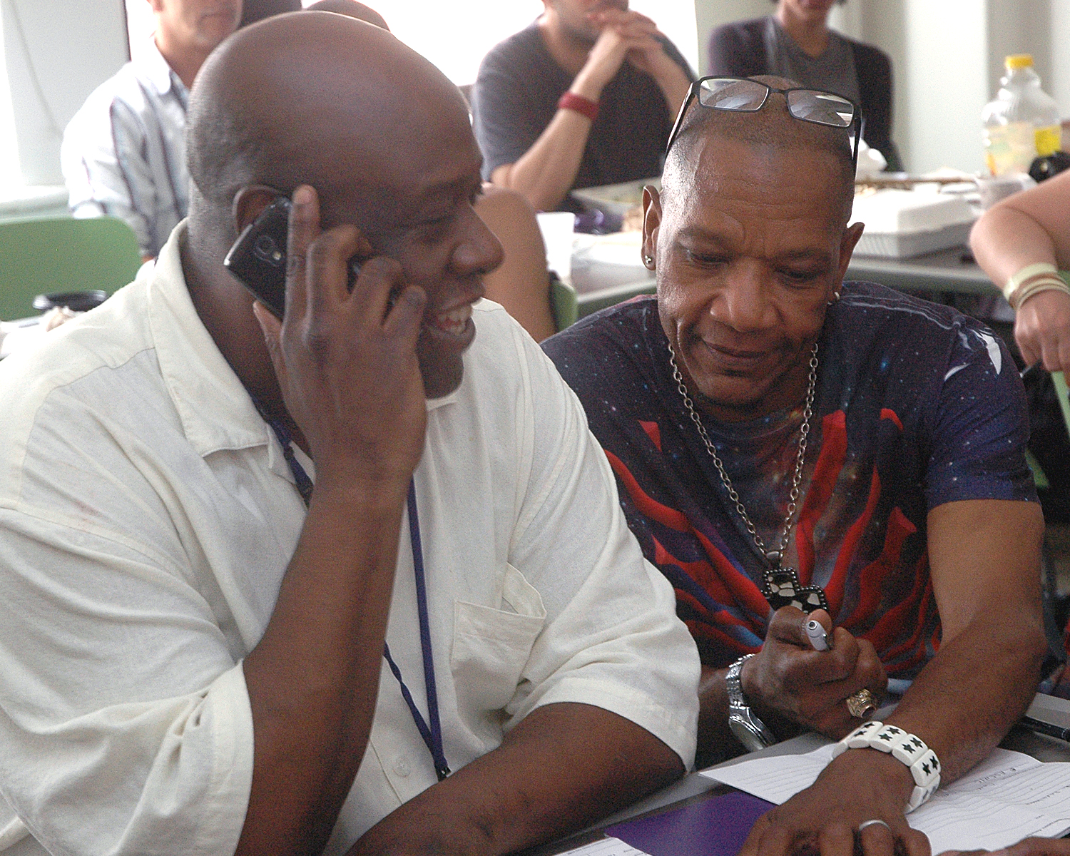 Philip W. and Marvin F. during their final role play