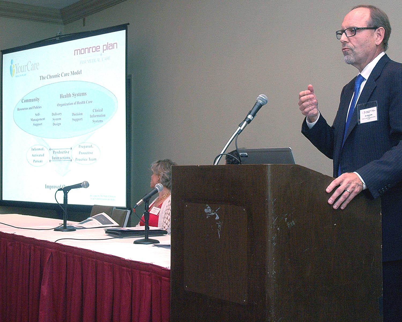 Joseph Stankaitis during his presentation