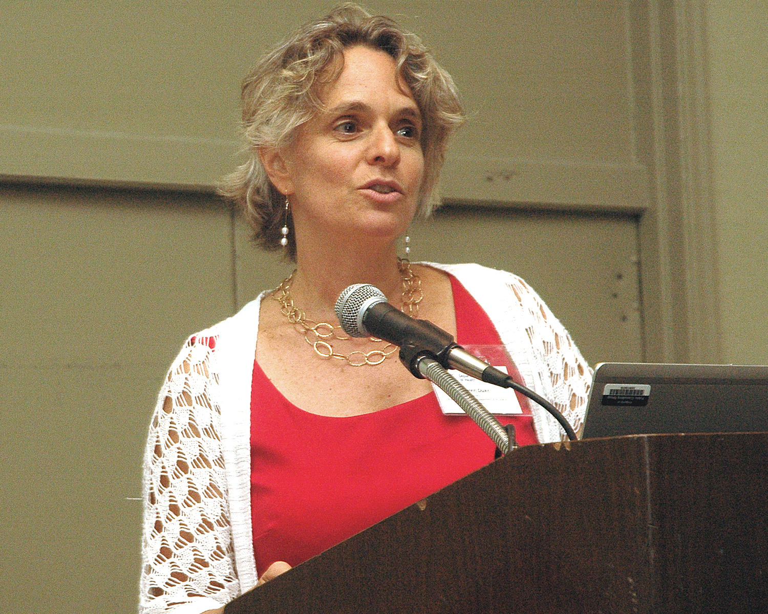 Sharen Duke during her presentation