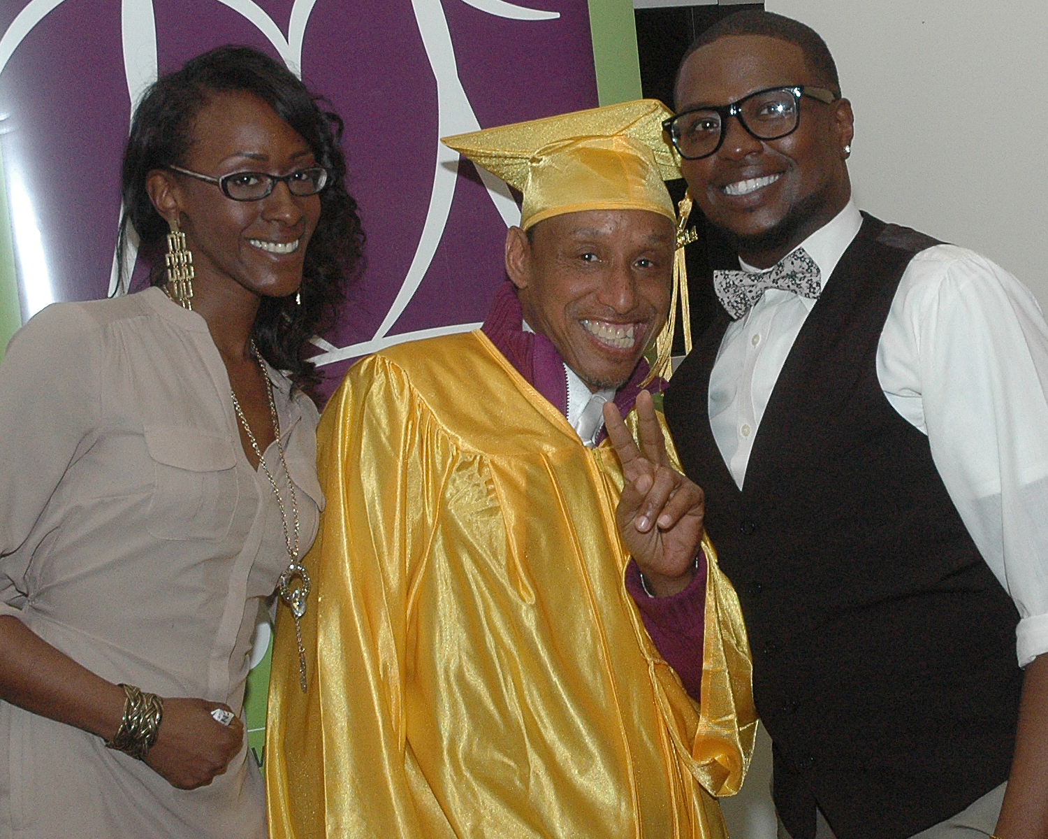 Kevin M., Malika M. and Claude P. - PREP Cycle 42 - Graduation