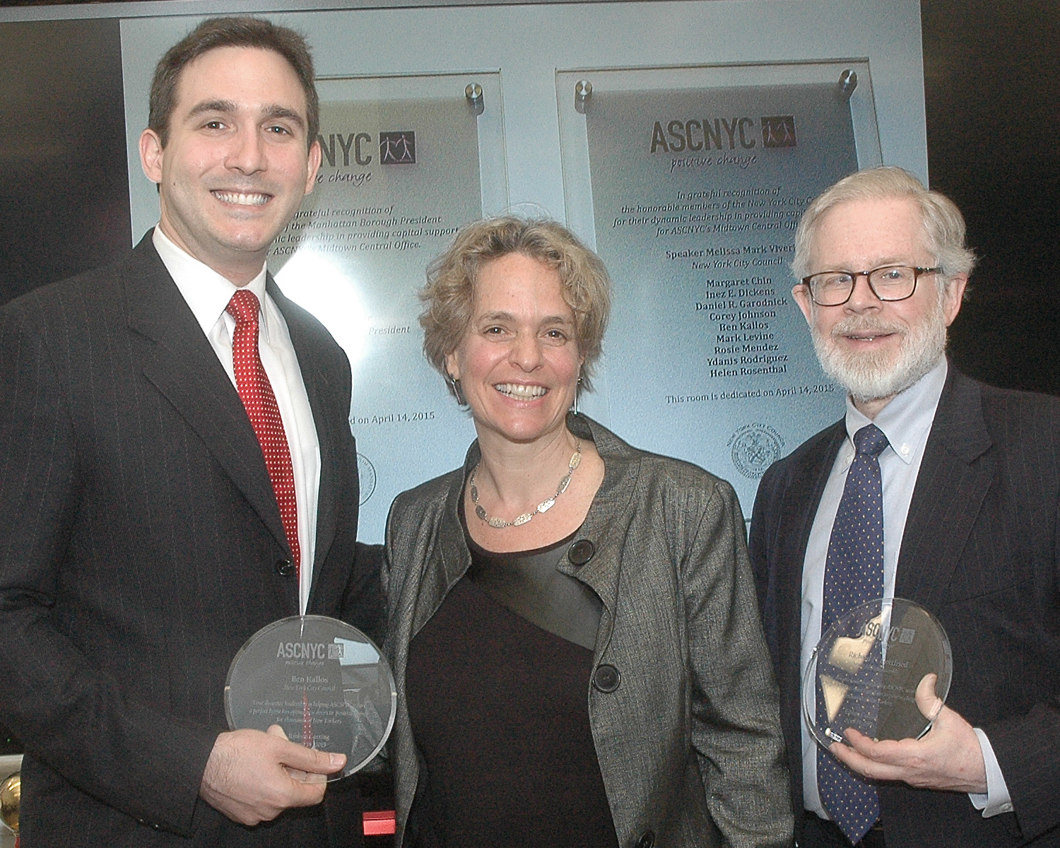 NYC Council Member Ben Kallos - ASCNYC CEO/ED Sharen Duke and NYS Assembly Member Richard N. Gottfried