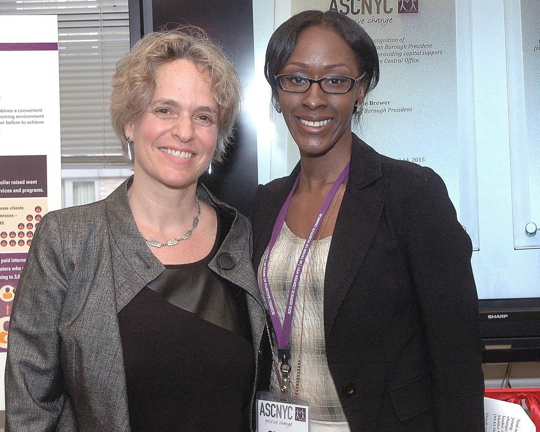 Sharen Duke and Malika Minott, ASCNYC Peer Health Coach Trainer