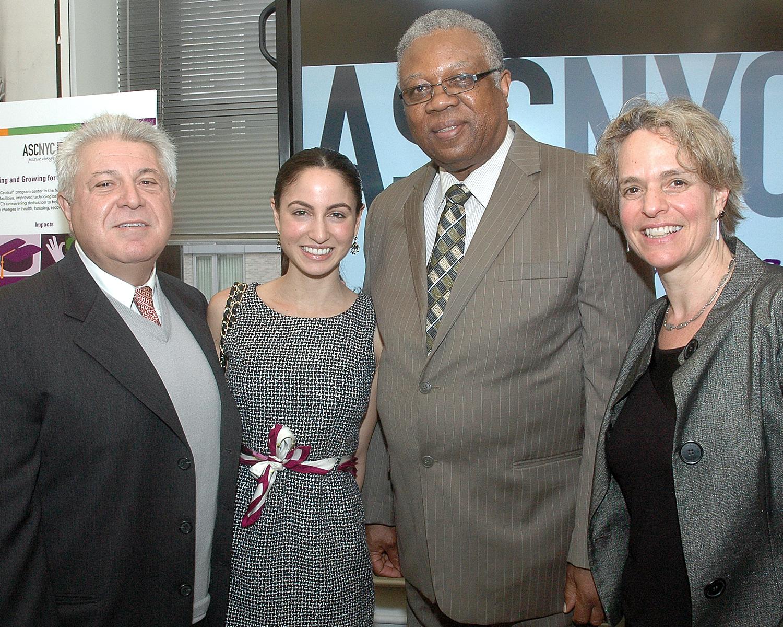 Noujan Vahdat, President, ERC - ASCNYC Board Chair Bill Toler - ASCNYC CEO/ED Sharen Duke and guest