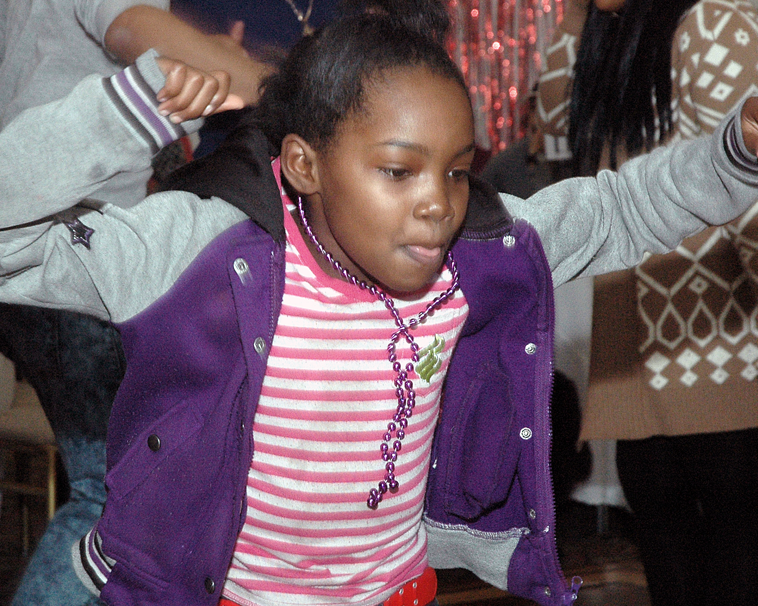 An attendee on the dance floor