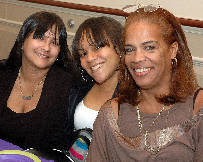 Rosalina Ruiz, Leslie Abreu and Sixta Council