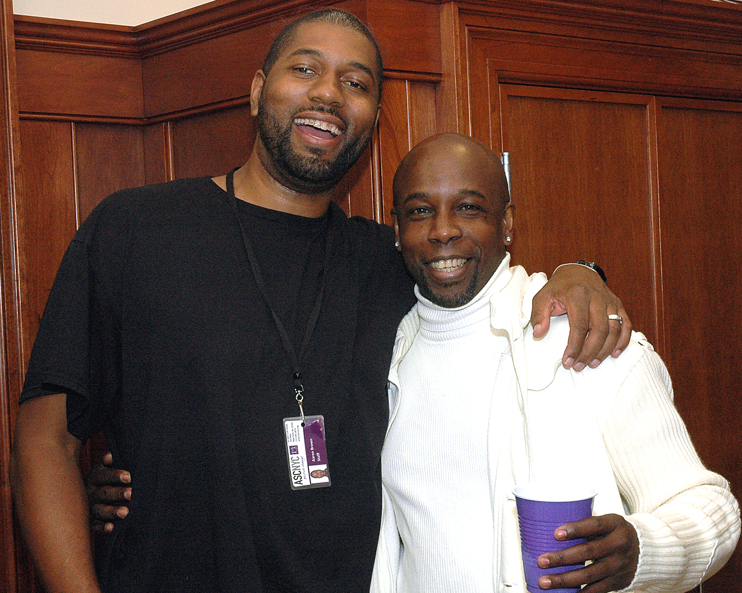 Aaron Brown and Frank Barker