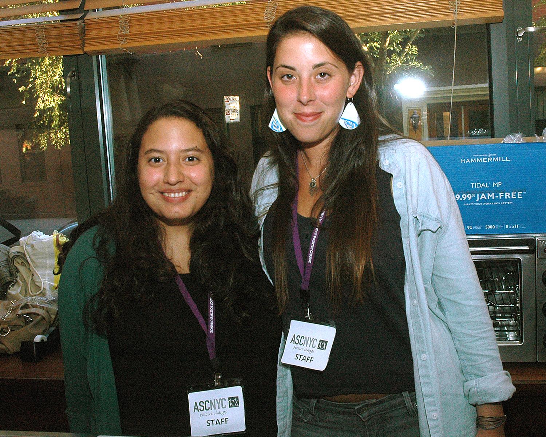 ASCNYC Staff Stephanie Crespo and Ilana Bernstein