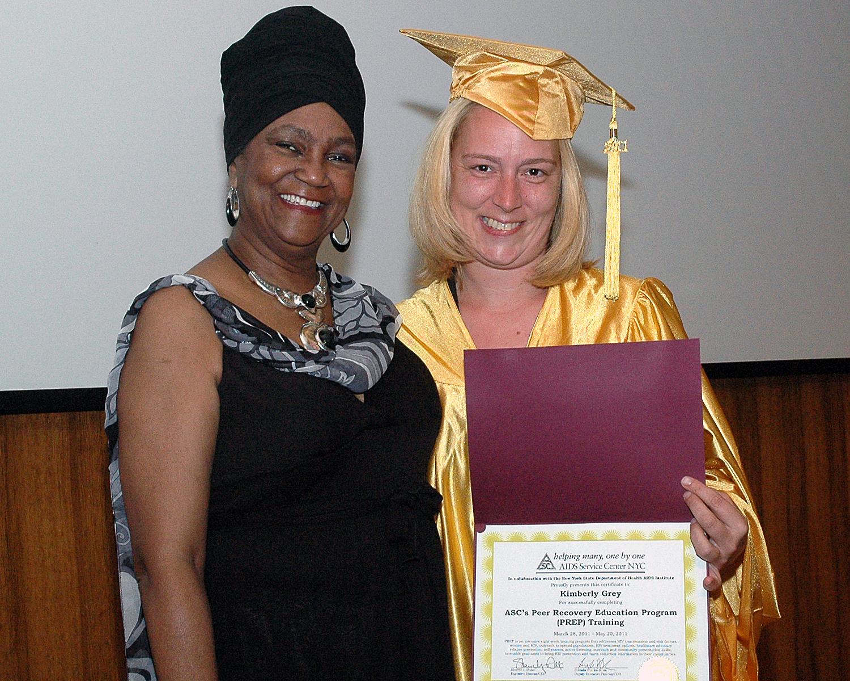 Joyce Myricks and Kimberly Grey