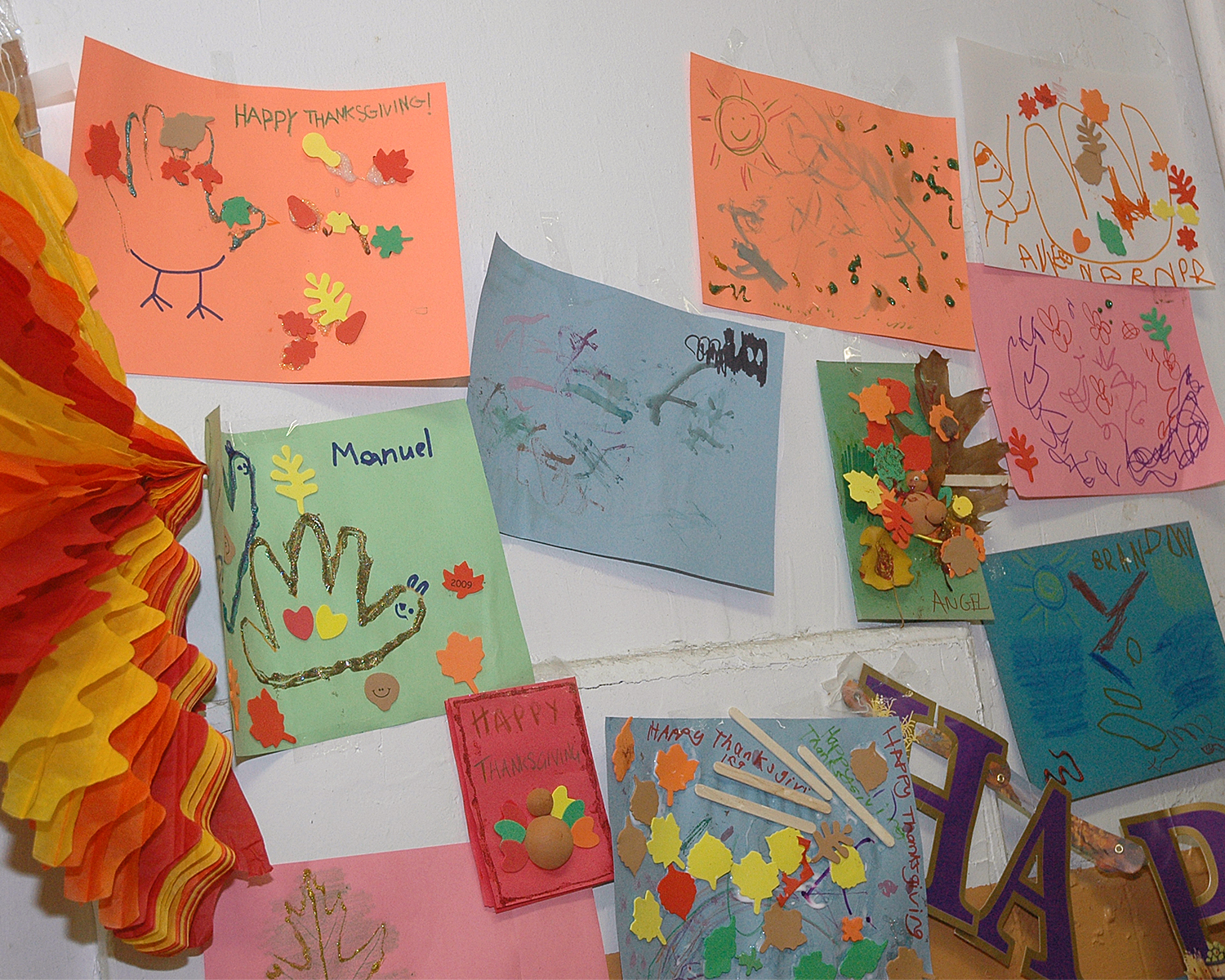 Samples of the artwork that was created during the event