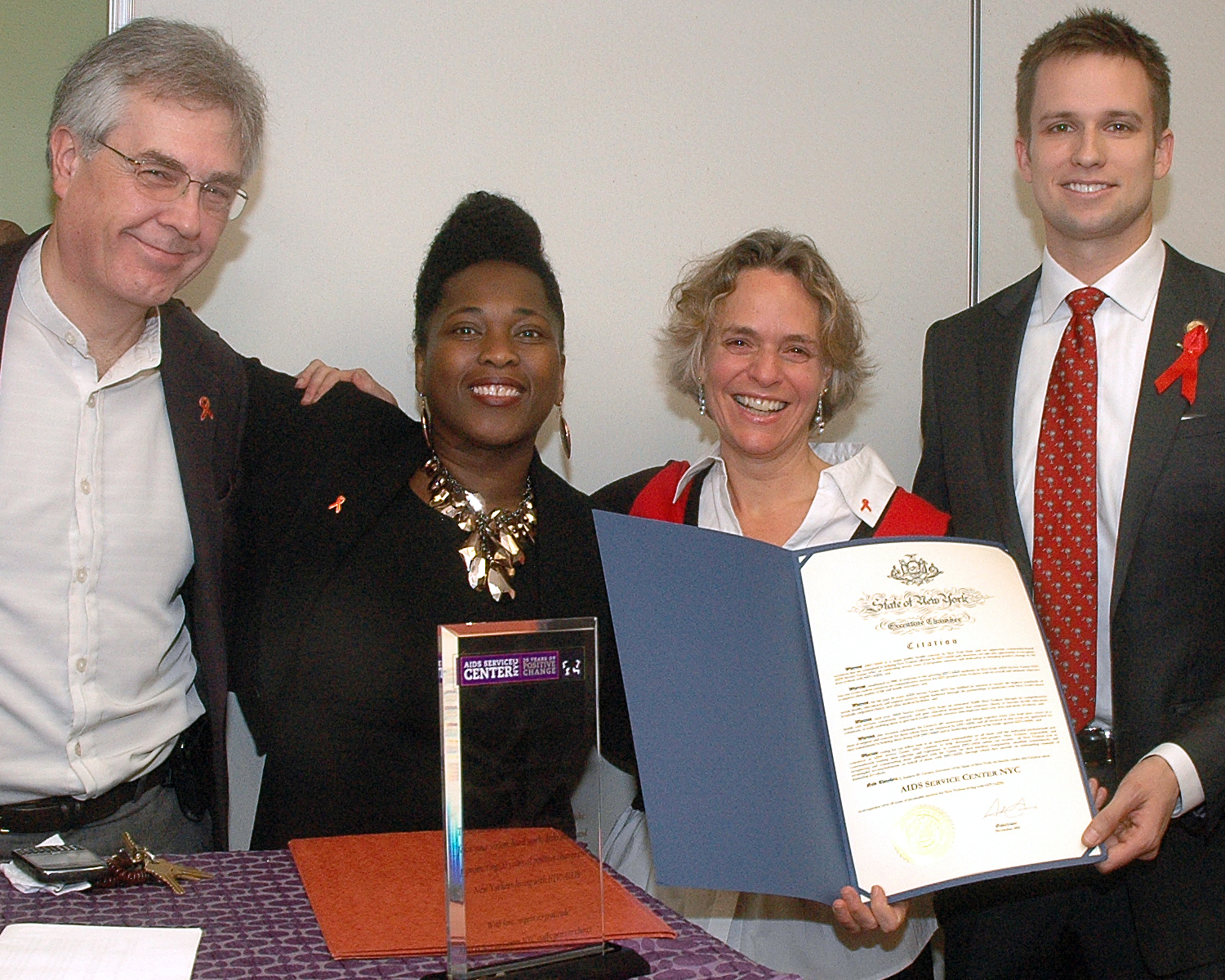 Presentation of a Citation signed by Governor Cuomo: Kim Atkins, Brenda Starks-Ross, Sharen Duke and Eric Bottcher, Special Assistant for Community Affairs S(New York State Cabinet Level Position)
