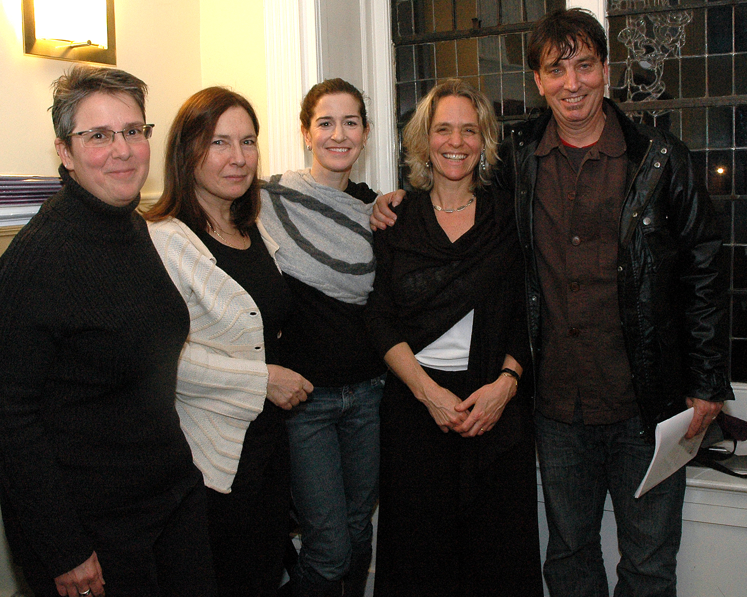 Gerry Gomez Pearlberg, Catherine Ventura, Jessica Greer-Morris, Sharen Duke and Nick Flynn