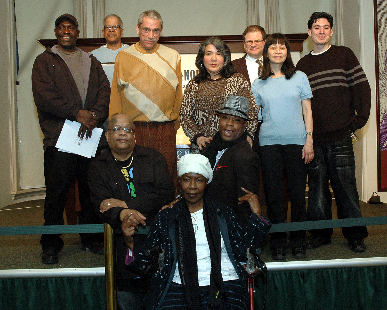 ASC Poets and Allen Zwickler, supporter of ASC's Poetry Program