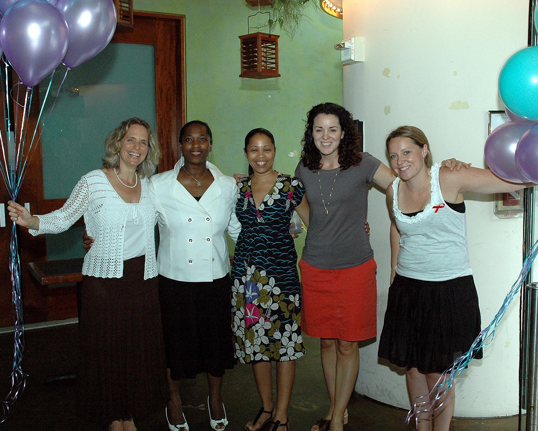 Sharen Duke, Brenda Starks-Ross, Ramona Cummings, Anne West-Church and Brooke Brailey
