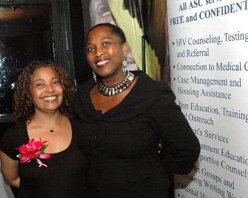 ASC COO Brenda Starks-Ross with an ASC staff member