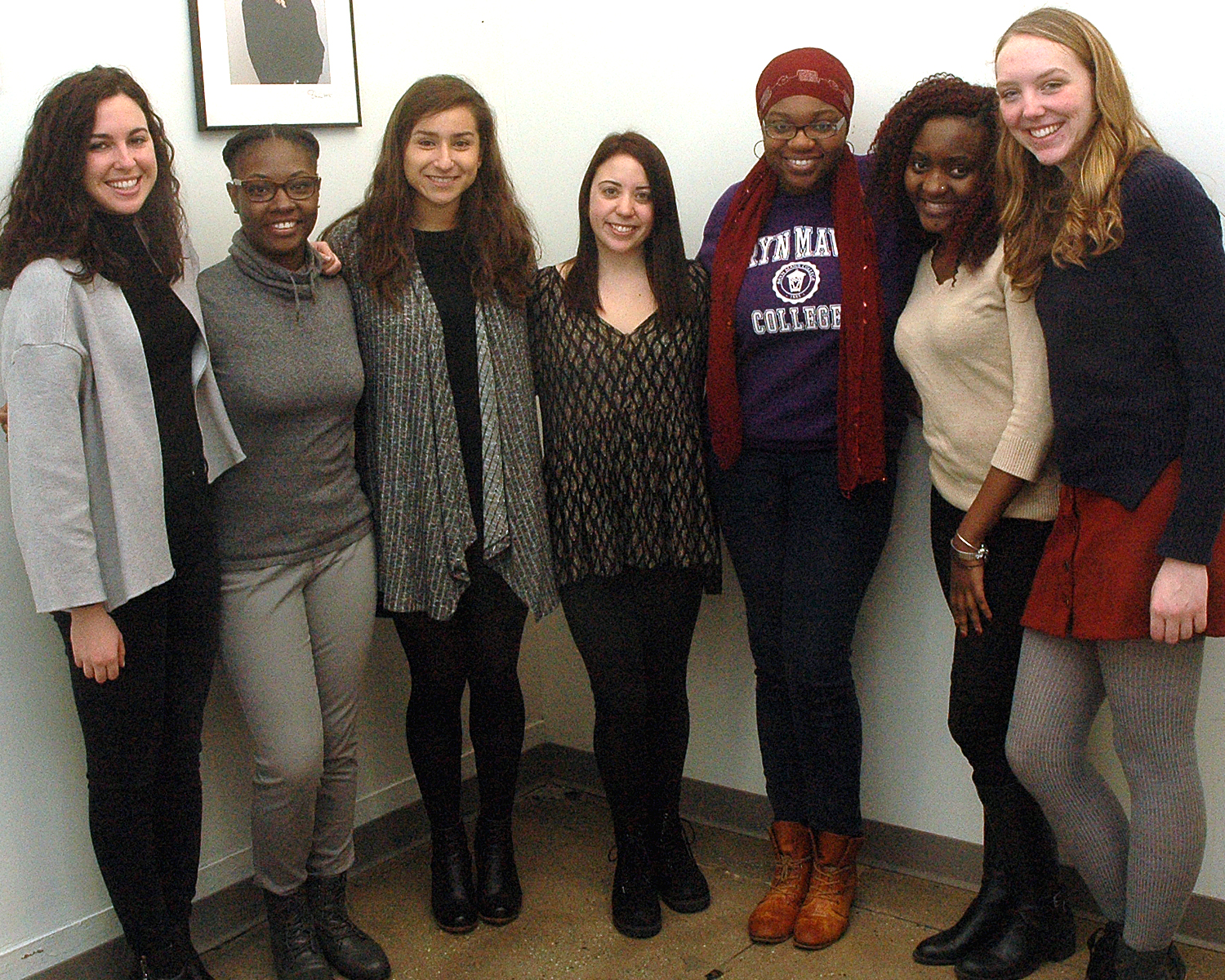 Rosie Whiteside with the interns from the AIDS Institute