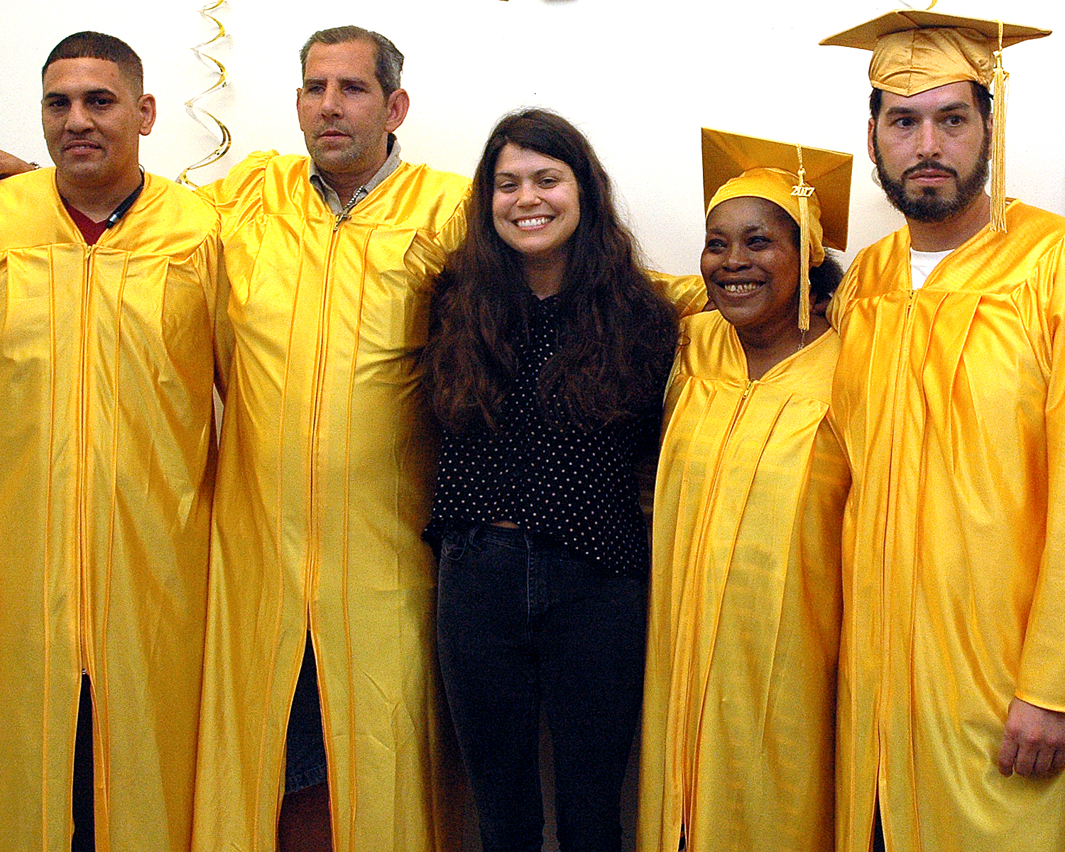 Raina Murphy with some of the graduates