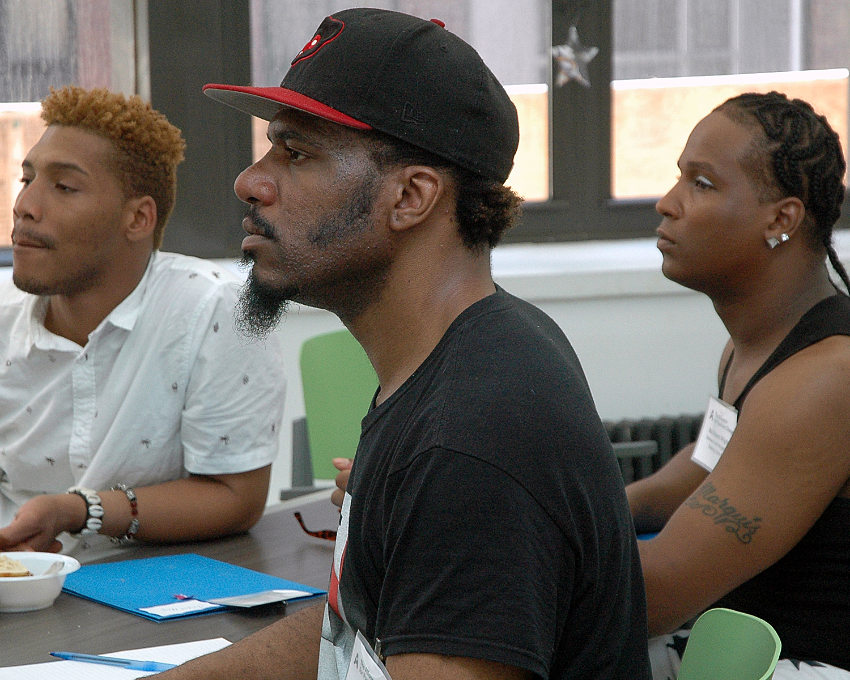 Three training attendees