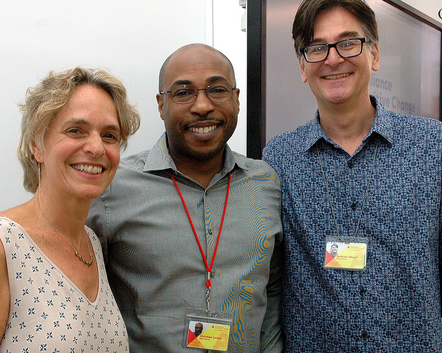 Sharen Duke, Executive Director/CEO with Andreas M. and Christian L.