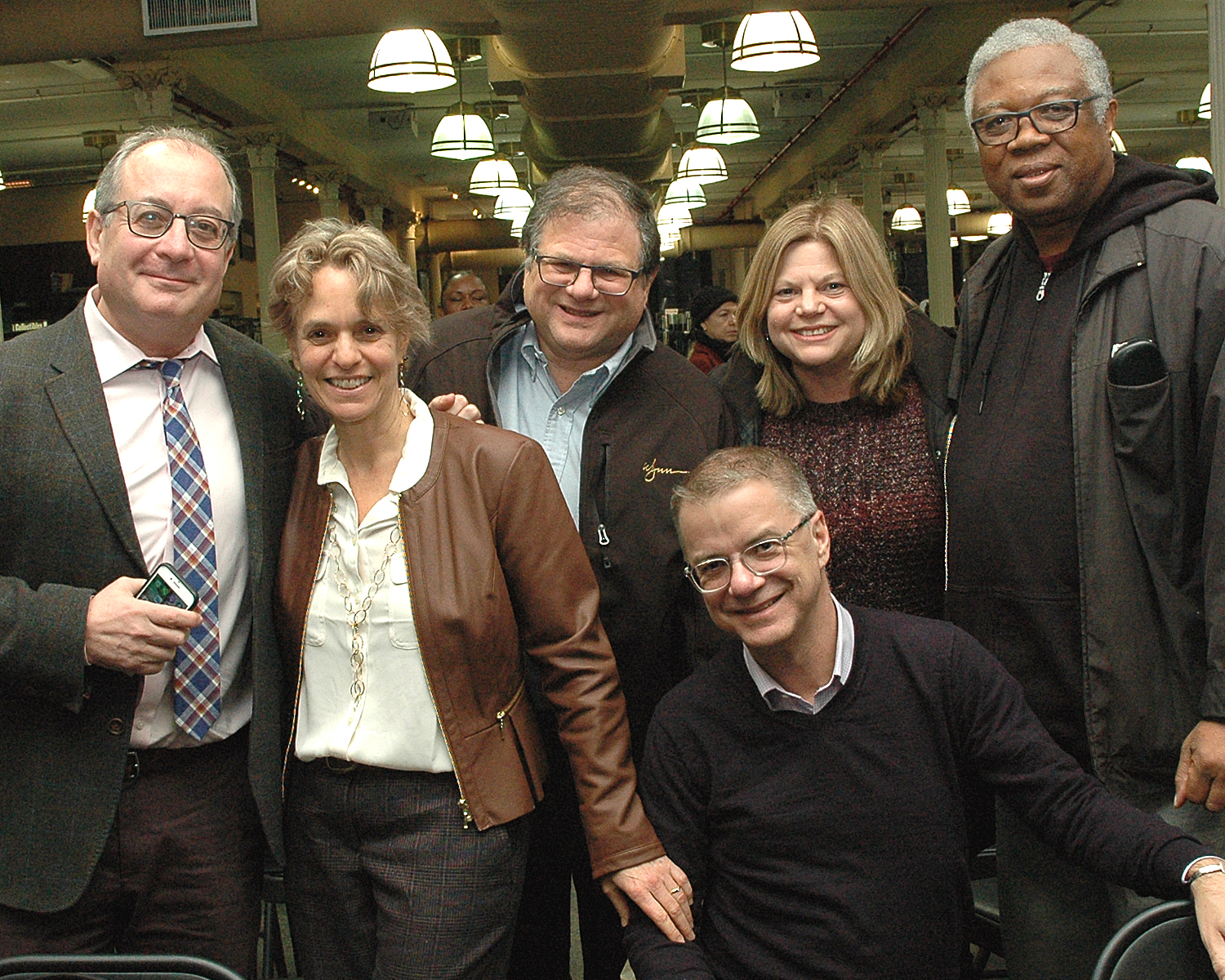 Sharen Duke with Board Members: William Toler, Allen Zwickler, Mitch Markson, Patrick Maher and Caren Levine, Zwickler Foundation