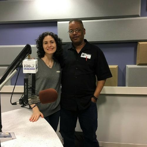 Reilly Glasgow, Alliance's LES Harm Reduction Center, with Nina de Rio
